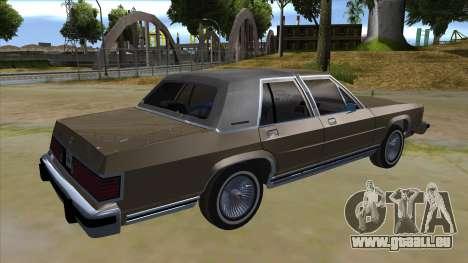 Mercury Grand Marquis 1986 v1.0 pour GTA San Andreas vue de droite