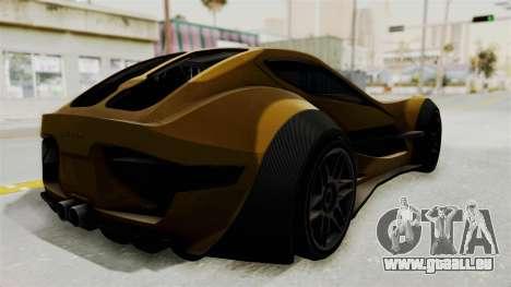 Felino CB7 pour GTA San Andreas laissé vue
