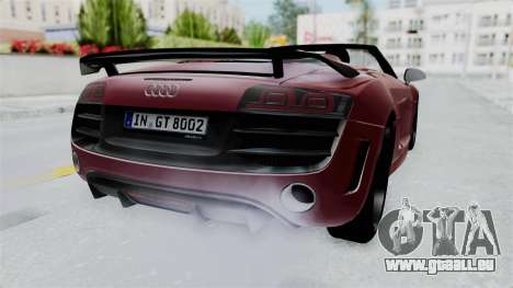 Audi R8 Spyder 2014 LB Work pour GTA San Andreas vue de droite