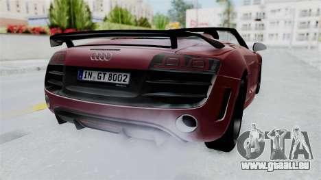 Audi R8 Spyder 2014 LB Work für GTA San Andreas rechten Ansicht