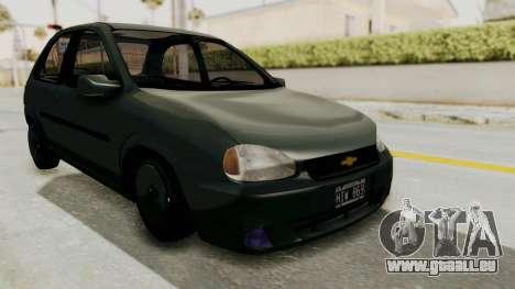 Chevrolet Corsa pour GTA San Andreas vue de droite