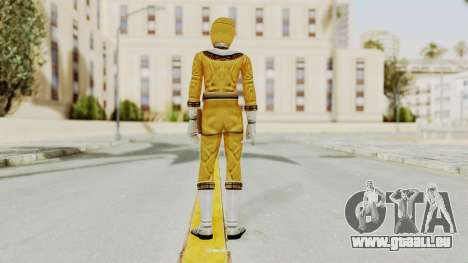 Power Ranger Zeo - Yellow für GTA San Andreas dritten Screenshot