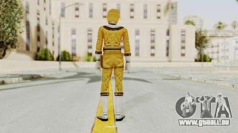 Power Ranger Zeo - Yellow für GTA San Andreas dritten Screenshot