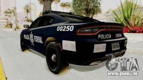 Dodge Charger RT 2016 Federal Police pour GTA San Andreas laissé vue