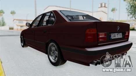 BMW 525i E34 1994 LT Plate pour GTA San Andreas vue de droite