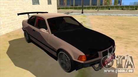 BMW M3 Drift Missile pour GTA San Andreas vue arrière