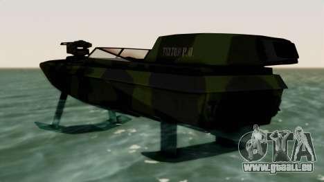 Triton Patrol Boat from Mercenaries 2 pour GTA San Andreas sur la vue arrière gauche