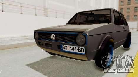 Volkswagen Golf 1 pour GTA San Andreas