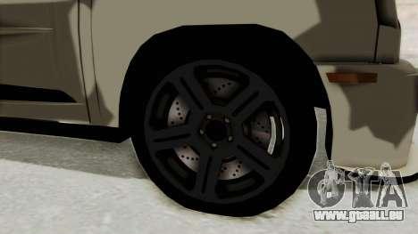 Renault Turbo-S pour GTA San Andreas vue arrière