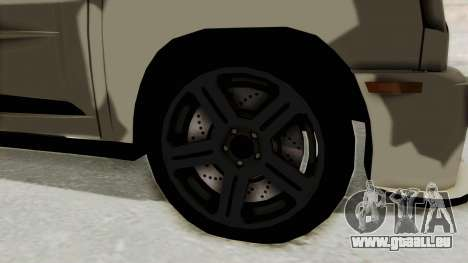 Renault Turbo-S für GTA San Andreas Rückansicht