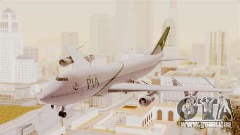 Boeing 747-200 Pakistan International pour GTA San Andreas sur la vue arrière gauche