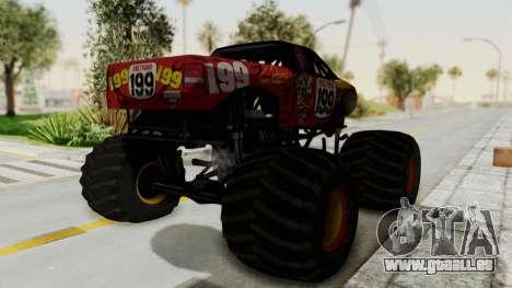 Pastrana 199 Monster Truck für GTA San Andreas rechten Ansicht