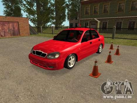 Daewoo Lanos (Sens) 2004 v2.0 by Greedy pour GTA San Andreas vue de dessous