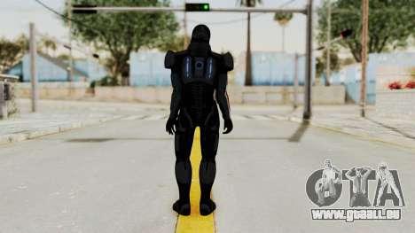 ME2 Shepard Default N7 Armor with Death Mask pour GTA San Andreas troisième écran