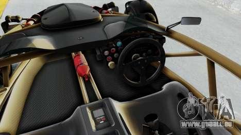 Ariel Atom 500 V8 pour GTA San Andreas vue intérieure