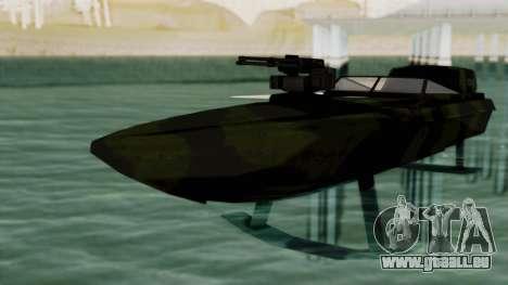 Triton Patrol Boat from Mercenaries 2 pour GTA San Andreas vue de droite