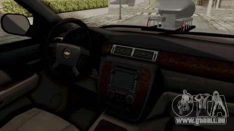 Chevrolet Silverado 2011 Monster Truck pour GTA San Andreas vue intérieure