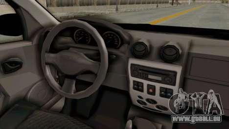 Dacia Logan pour GTA San Andreas vue intérieure