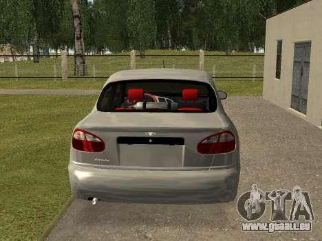 Daewoo Lanos (Sens) 2004 v2.0 by Greedy pour GTA San Andreas vue de droite