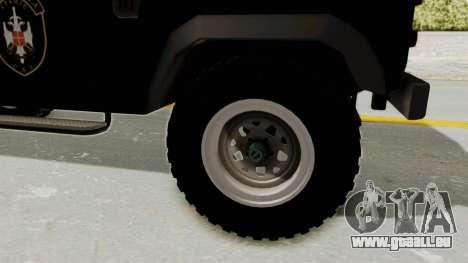 Land Rover Defender SAJ pour GTA San Andreas vue arrière