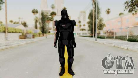 ME2 Shepard Default N7 Armor with Death Mask für GTA San Andreas zweiten Screenshot