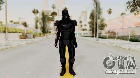 ME2 Shepard Default N7 Armor with Death Mask pour GTA San Andreas deuxième écran