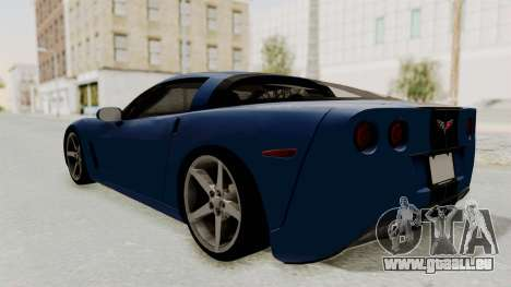 Chevrolet Corvette C6 für GTA San Andreas linke Ansicht