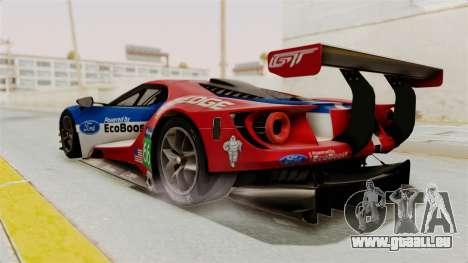 Ford GT 2016 LM pour GTA San Andreas laissé vue