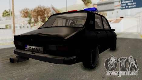 Dacia 1310 TX Turbo Police für GTA San Andreas zurück linke Ansicht