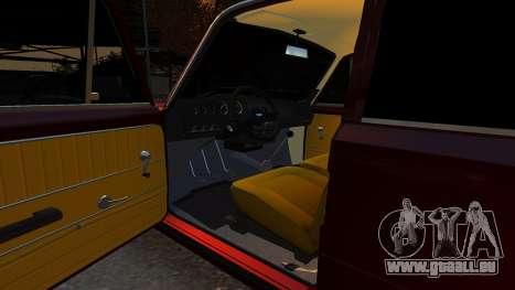 VAZ 21011 Style pour GTA 4 est une vue de l'intérieur