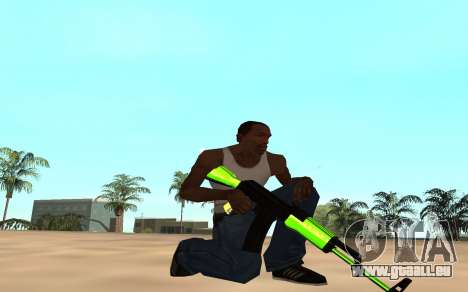 Green chrome weapon pack pour GTA San Andreas cinquième écran