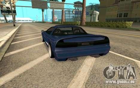 Infernus BlueRay V12 pour GTA San Andreas sur la vue arrière gauche