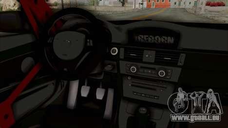 BMW M3 E92 Liberty Walk pour GTA San Andreas vue intérieure