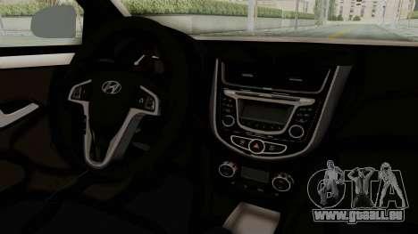 Hyundai Accent Era pour GTA San Andreas vue intérieure