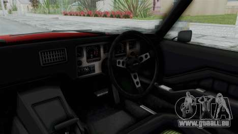 Holden Monaro GTS 1971 AU Plate HQLM pour GTA San Andreas vue intérieure