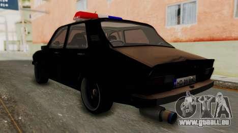 Dacia 1310 TX Turbo Police pour GTA San Andreas laissé vue