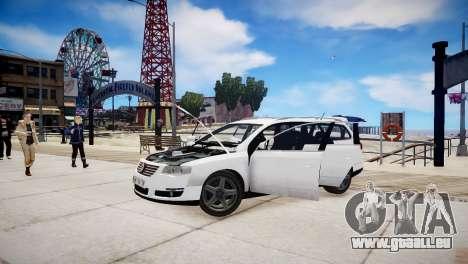 Volkswagen Passat Variant 2010 V1 pour GTA 4 est un côté