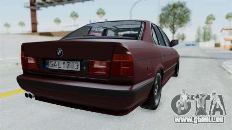 BMW 525i E34 1994 LT Plate pour GTA San Andreas laissé vue