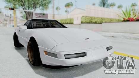 Chevrolet Corvette C4 Drift pour GTA San Andreas sur la vue arrière gauche