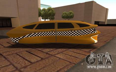Flying Taxi für GTA San Andreas linke Ansicht
