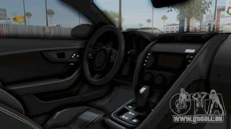 Jaguar F-Type Coupe 2015 pour GTA San Andreas vue intérieure