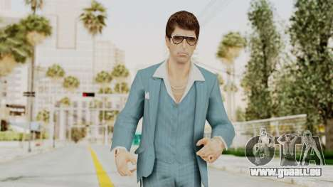 Scarface Tony Montana Suit v3 with Glasses pour GTA San Andreas