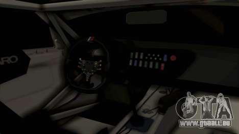 BMW Z4 GT3 Tobisawa Misaki für GTA San Andreas Innenansicht