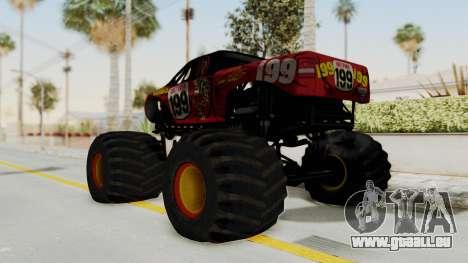 Pastrana 199 Monster Truck für GTA San Andreas linke Ansicht