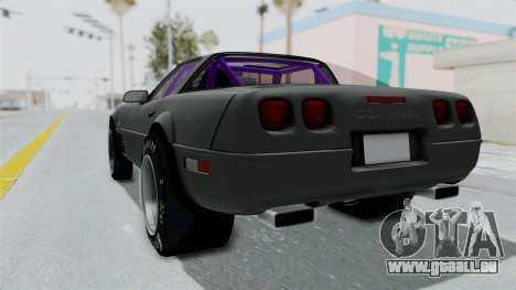 Chevrolet Corvette C4 Drag pour GTA San Andreas laissé vue