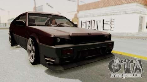 Blista CRX pour GTA San Andreas vue de droite