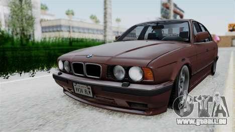 BMW 525i E34 1994 SA Plate für GTA San Andreas zurück linke Ansicht