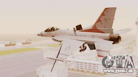 General Dynamics F-16A USAF Thunderbirds pour GTA San Andreas vue de droite