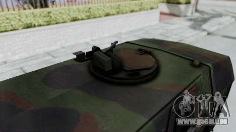 ATF Dingo pour GTA San Andreas sur la vue arrière gauche