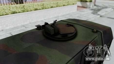 ATF Dingo für GTA San Andreas zurück linke Ansicht